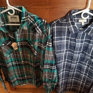 Never worn Flannels Urban Pipeline/ Sonoma